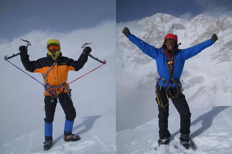 Никита Балабанов и Михаил Фомин на вершине горы Талунг