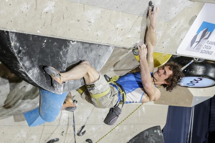Адам Ондра (Adam Ondra, Чехия) на финальном этапе Кубка Мира в Краини