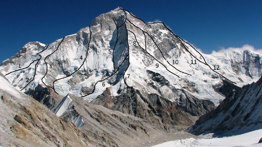 Макалу (Makalu, 8485 м) - Mǎkǎlǔ Shān