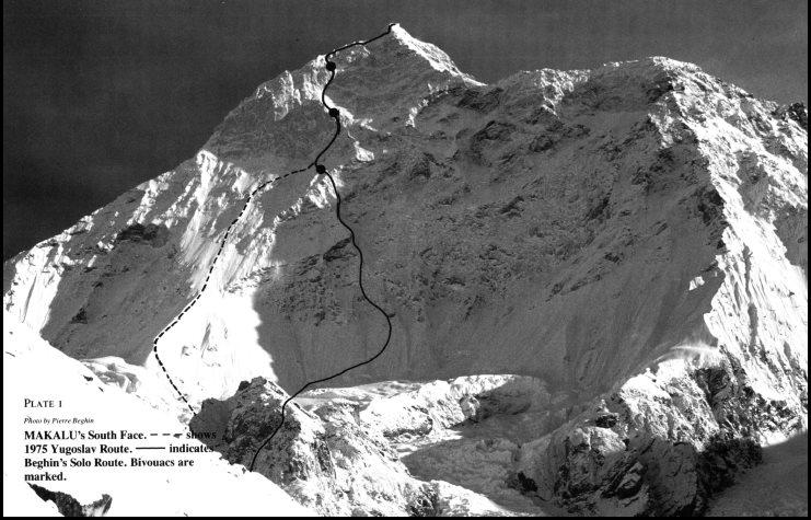 Оригинальное фото маршрута из отчета Пьера Бегина