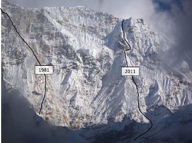 Западная стена. Маршруты 1981 и 2011 года