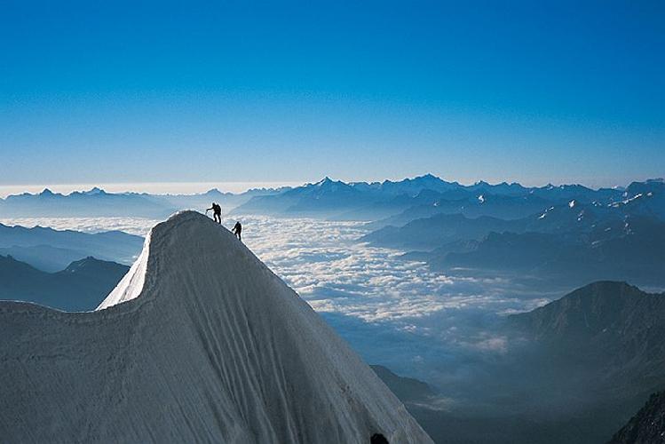 Mont Maudit, хребет Frontier Ridge