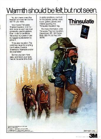 Thinsulate на страницах Backpacker. Октябрь 1981