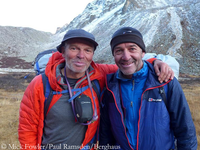 Мик Фаулер (Mick Fowler) и Пол Рамсден (Paul Ramsden) в Гималаях. Фото Paul Ramsden