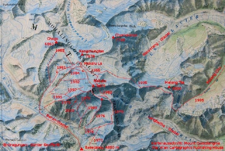 Все маршруты восхождения на Макалу