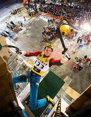 На первом этапе Кубка Мира по ледолазанию украинец Валентин Сипавин занял 14 место