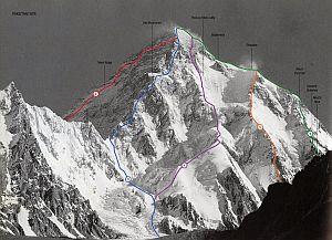 K2. Все маршруты восхождения на второй по высоте восьмитысячник мира