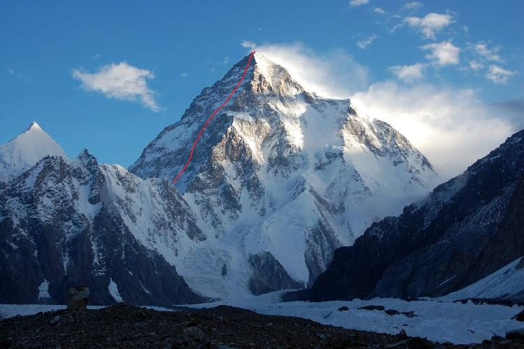 K2. Юго-западная стена
