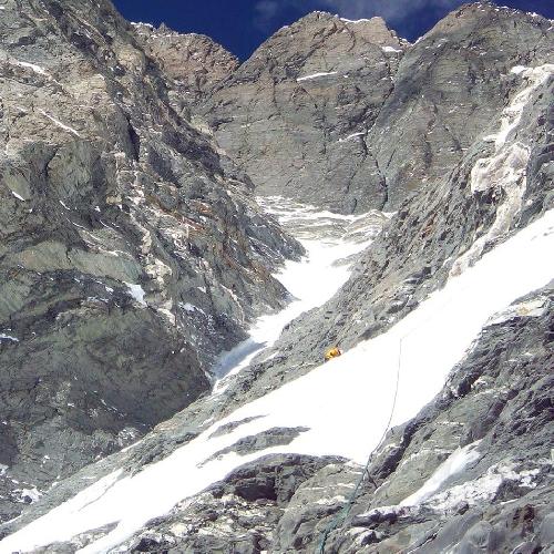 Южная стена Лхоцзе. Путь к четвертому высотному лагерю. Южно корейская команда, 2015 год