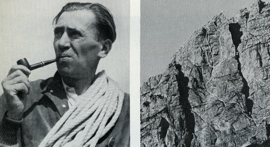 <br>Джузеппе Димаи, первый горовосходитель (вместе с братом и Комичи) на северную стену Гроссе Цинне. <br><br>  Южная стена Пунта-Фиаме. 1 = путь Димаи, 2 = ребро Фиаме, 3 = через Димаи, Дибона, Дегаспер.
