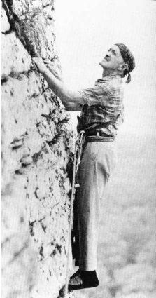 Фриц Висснер (Fritz Wiessner) на скалах