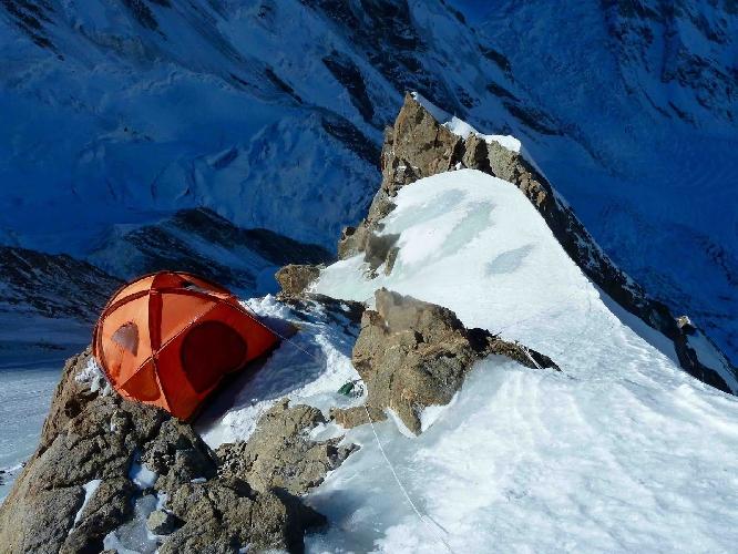 Второй высотный лагерь на маршруте Кинсхофера