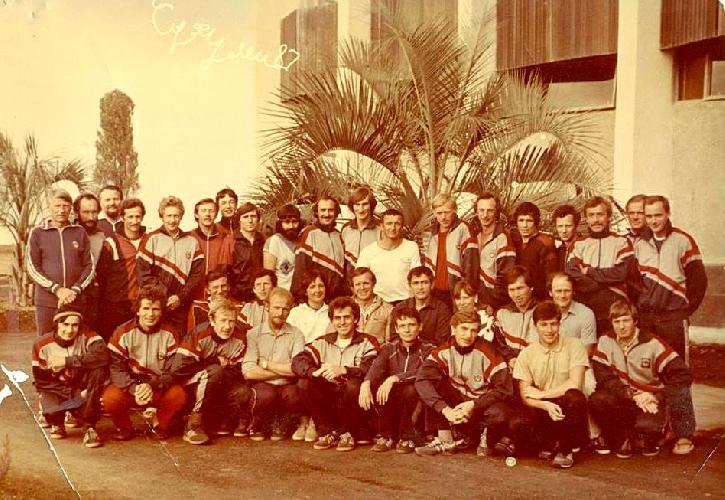 Сборы сборной к-ды СССР в Эшерах (Абхазия) на базе сборных команд СССР перед экспедицией на Канченджангу. 1987