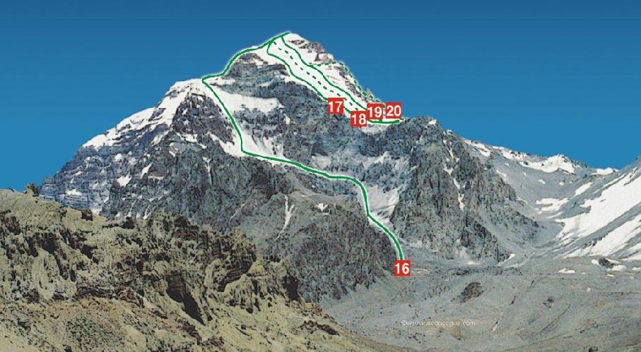 Аконкагуа (Aconcagua), стандартный маршрут восхождения под №16