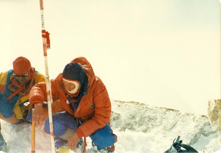 Канченджанга 1989. Фото С. Богомолова. На вершине - Пастух, Можаев