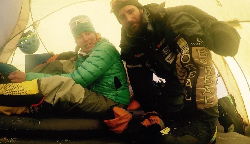 В первом высотном лагере. 15 февраля 2016 года