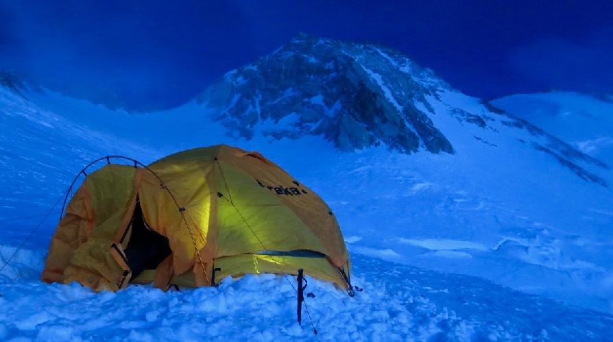 Четвертый высотный лагерь и вершина Нангапарбат