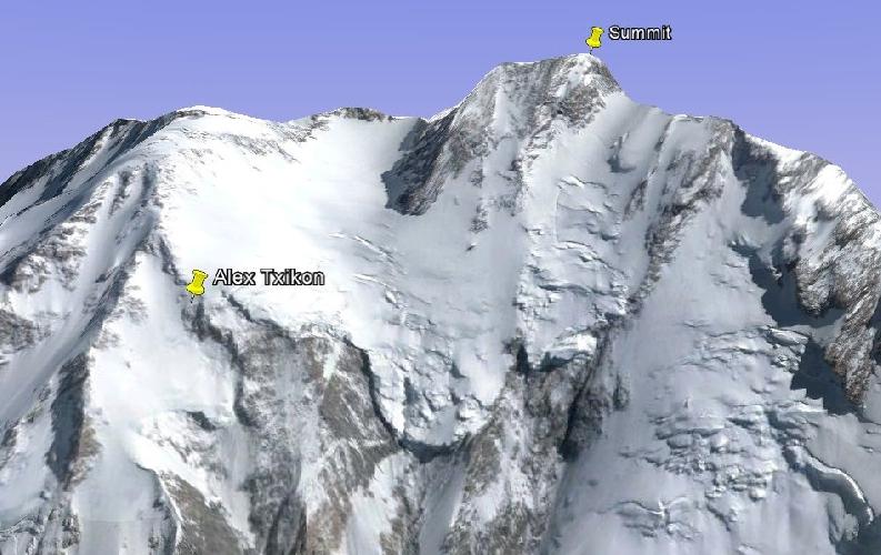 "верховья ледника Бажин (отметка ""Bazhin Basin"")"