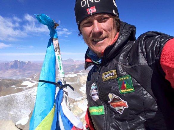 Александр Оришко на вершине Охос-дель-Саладо