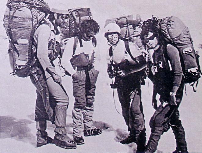 Джон Портер, Кржиштов Зурек, Войтек Куртыка и Алекс МакИнтайр в экспедиции на Чангабенг