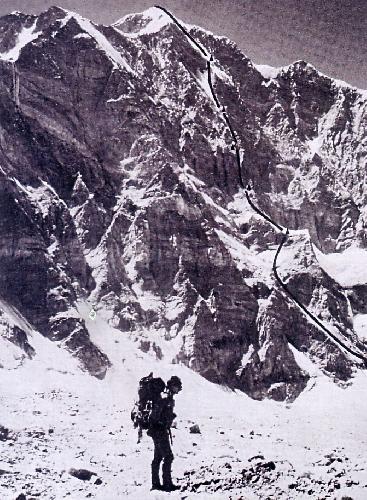 Маршрут 1977 года на северной стене Кохе Бандаки