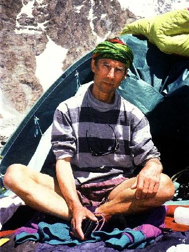 Войтек в Базовом лагере под К2, 1996 год