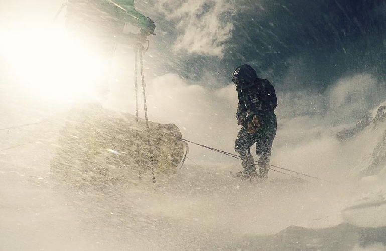 Плохая погода в первом высотном лагере