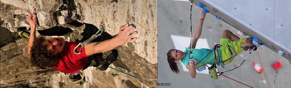 Адам Ондра (Adam Ondra, Чехия) и Мина Маркович (Mina Markovic, Словения)