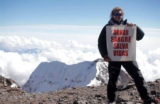 Факундо Арана ( Facundo Arana) на вершине Аконкагуа. 2010 год