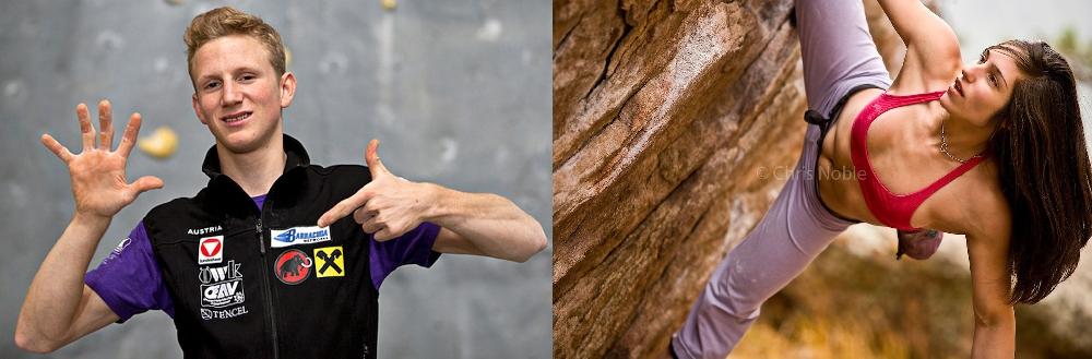 Якоб Шуберт (Jakob Schubert, Австрия) и Алекс Пуччио (Alex Puccio, США)