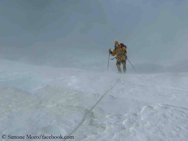 на спуске с вершины Нангапарбат