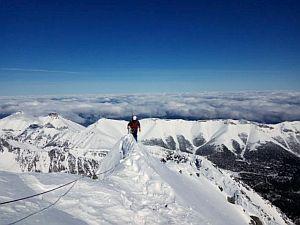 О восхождении зимой в Словацких Татрах от альпинистов Кировограда и Кривого Рога