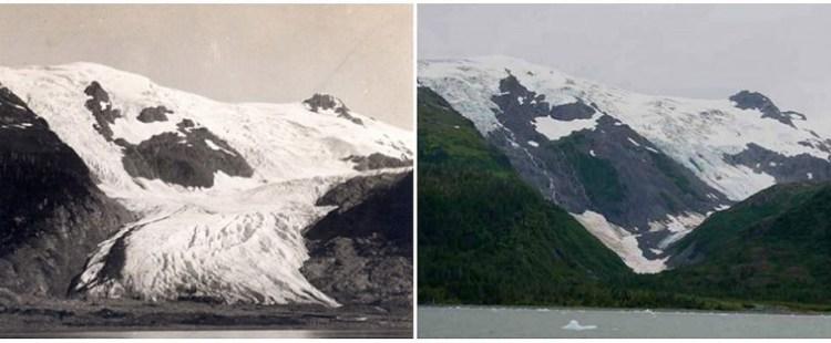 Ледник Тобогган. Июнь 1909 г. — сентябрь 2000 г.