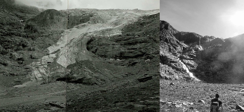 Ледник Karlinger Kees: в 1993 и 2011 году