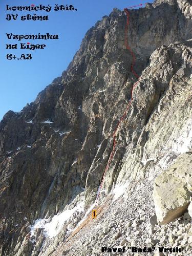 "Словакия, Ломницки-Штит, маршрут "" Vzpomínka na Eiger"""
