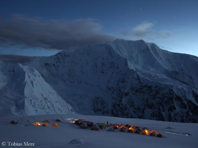 Второй высотный лагерь на Химлунг Химал (Himlung Himal)