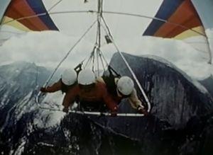 Хаф-Доум в 1977 году. Истоки бейс-джампинга в долине Йосемити