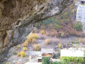 Сергей Шаферов открывает самый сложный скалолазный маршрут в Бахчисарае
