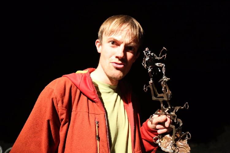 Михаил Фомин и обновленная статуэтка премии Золотой Ледоруб 2016