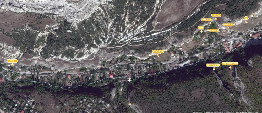 Бахчисарай - скальные сектора.