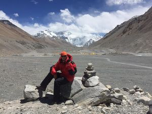 Украинки на Эвересте. Сеанс видео связи с базовым лагерем