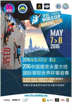 В Китайском городе Нанкин пройдет второй этап Кубка Мира по скалолазанию в дисциплине скорость. От Украины выступят 3 спортсмена