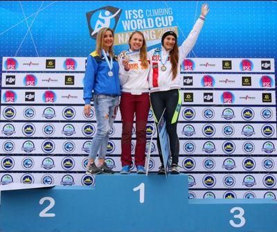 Харьковчанка Алла Маренич стала серебряной призеркой этапа Кубка Мира по скалолазанию в китайском Нанкине