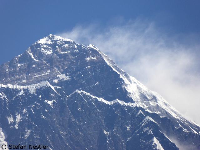 Сильный ветер на Эвересте
