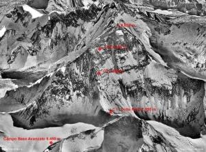 Украинка Татьяна Яловчак в штурмовом восхождении на Эверест:  подъем к лагерю на 7700 метров