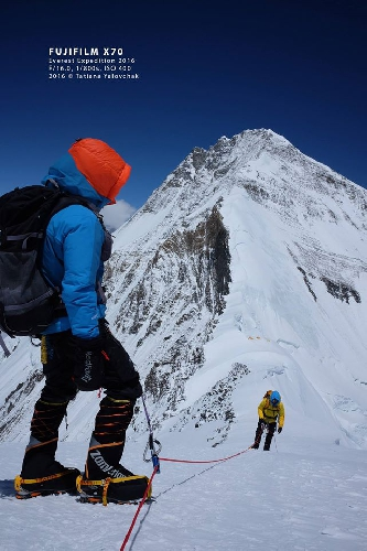 Татьяна Яловчак на Северном седле Эвереста (7400м) во время акклиматизационного восхождения. май 2016 года