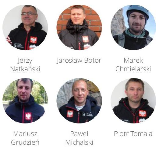 Участники польской экспедиции на К2