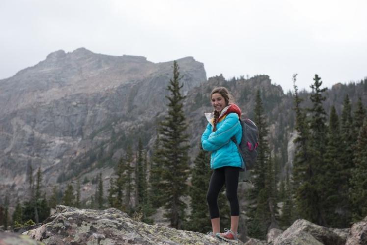 Брук Работу (Brooke Raboutou) в национальном парке Rocky Mountain.