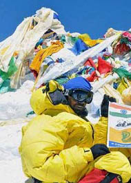 Раджиб Бхаттачарья (Rajib Bhattacharya) на Эвересте
