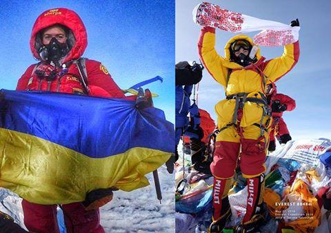 Украианки Ирина Галай и Татьяна Яловчак на Эвересте